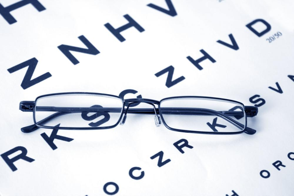glasses on eye chart with services from your cookeville optometrist